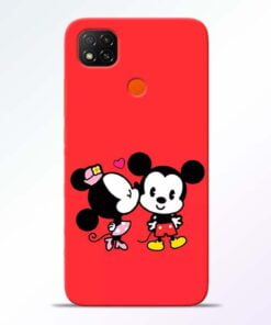 Red Cute Mouse Redmi 9 Back Cover - CoversGap