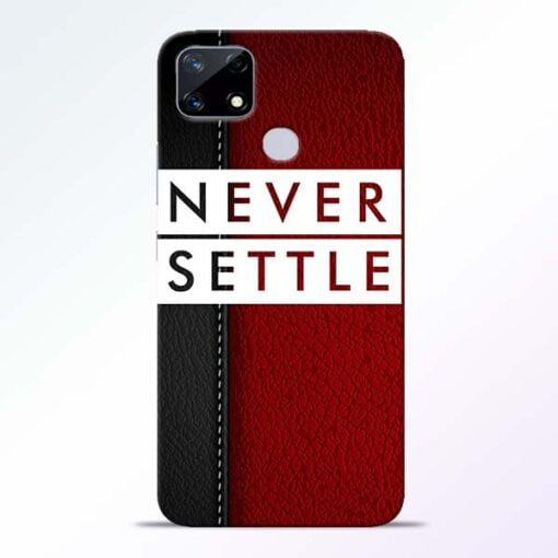 Red Never Settle Realme Narzo 20 Back Cover - CoversGap
