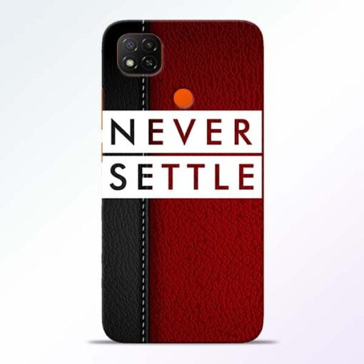 Red Never Settle Redmi 9 Back Cover - CoversGap