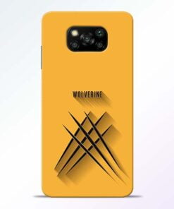 Wolverine Poco X3 Back Cover - CoversGap