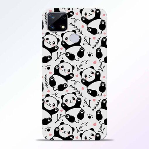 Adorable Panda Realme Narzo 20 Back Cover