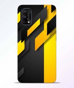 Black Yellow Realme 7 Pro Back Cover