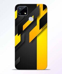 Black Yellow Realme Narzo 20 Back Cover