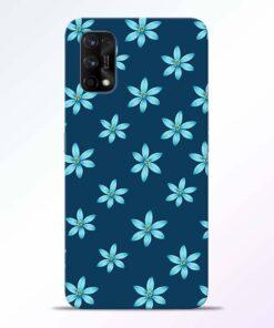 Blue Flower Realme 7 Pro Back Cover