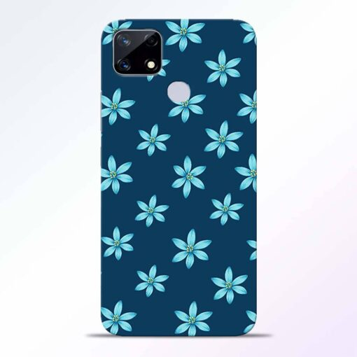 Blue Flower Realme Narzo 20 Back Cover