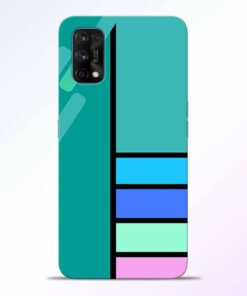 Blue Strips Realme 7 Pro Back Cover