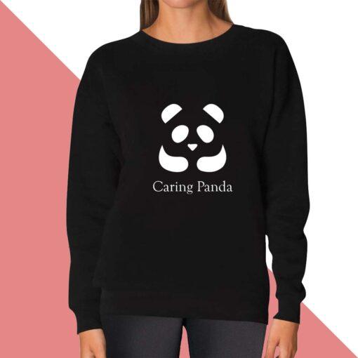 Caring Panda Sweatshirt for women