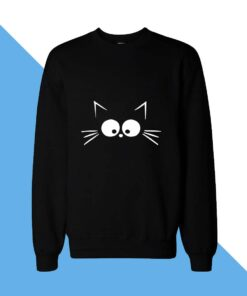 Cat Face Women Sweatshirt