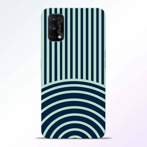 Circle Stripes Realme 7 Pro Back Cover