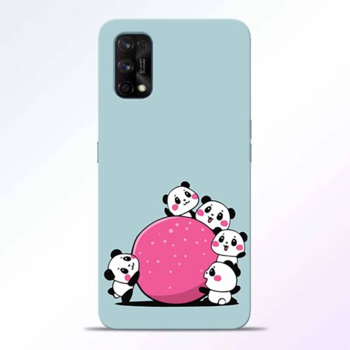 Cute Panda Realme 7 Pro Back Cover