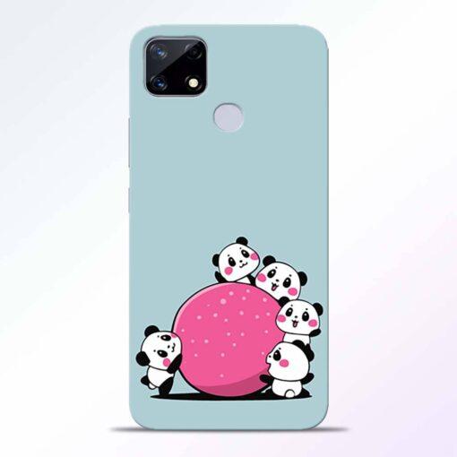 Cute Panda Realme Narzo 20 Back Cover