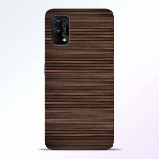 Dark Wood Realme 7 Pro Back Cover