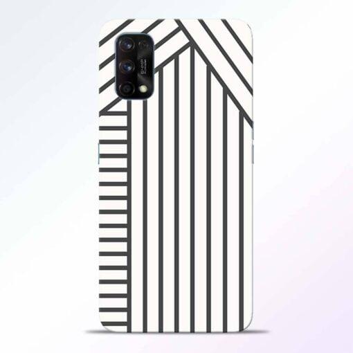 Diagonal Stripes Realme 7 Pro Back Cover