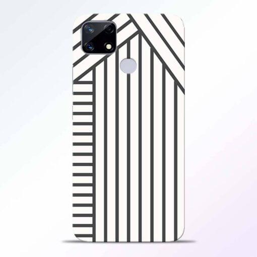 Diagonal Stripes Realme Narzo 20 Back Cover