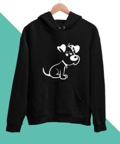 Cute Puppy Men Hoodies