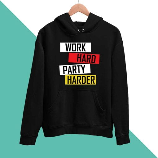Work Hard Men Hoodies