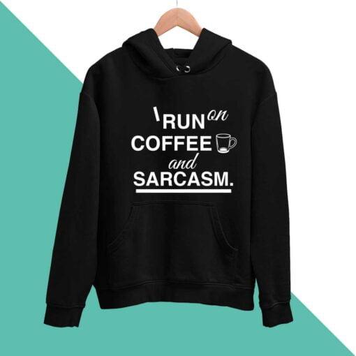 Coffee & Sarcasm Men Hoodies