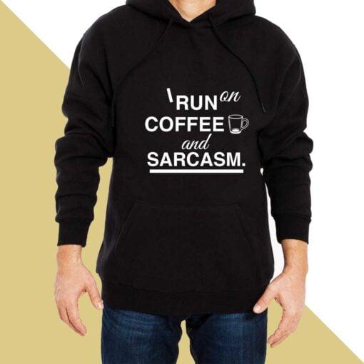 Coffee & Sarcasm Hoodies for Men