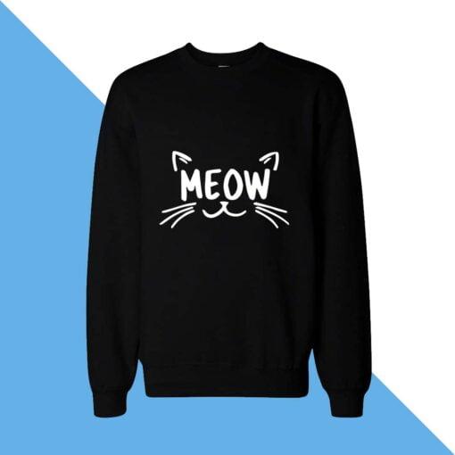 Meow Face Women Sweatshirt