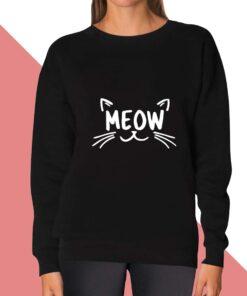 Meow Face Sweatshirt for women