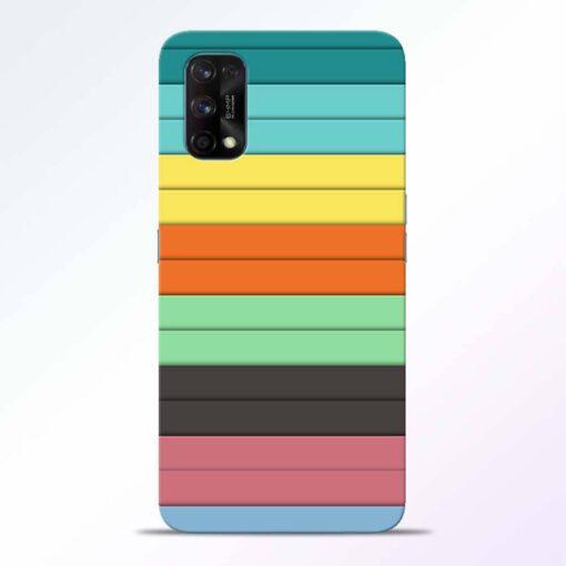 Multi Color Strap Realme 7 Pro Back Cover