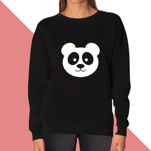 Panda Face Sweatshirt for women