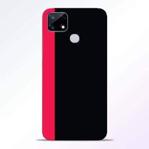 Pink Black Realme Narzo 20 Back Cover