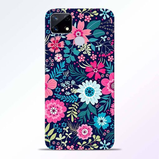 Pink Floral Realme Narzo 20 Back Cover