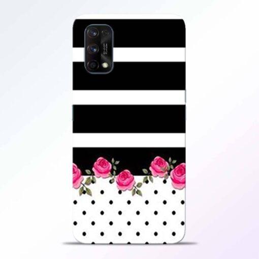Pink Rose Realme 7 Pro Back Cover