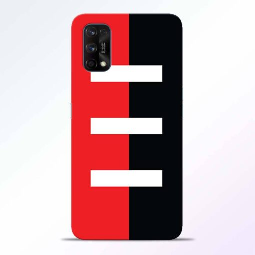 Red Black Realme 7 Pro Back Cover