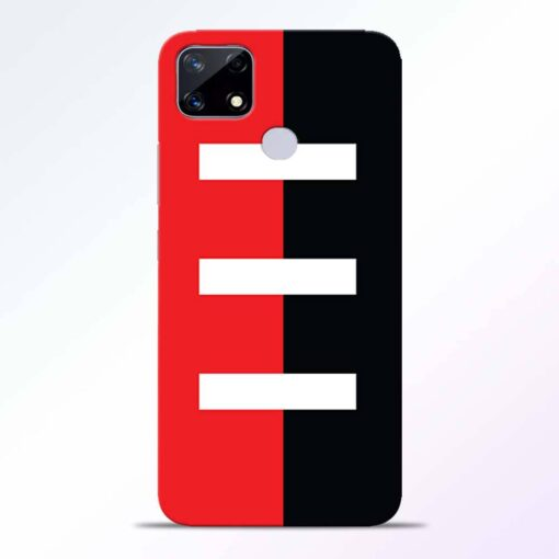Red Black Realme Narzo 20 Back Cover