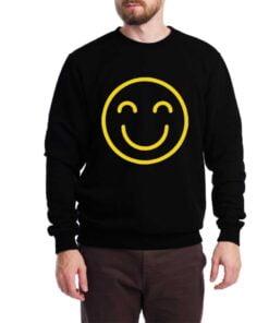 Smily Face Sweatshirt for Men