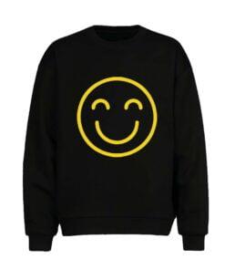 Smily Face Men Sweatshirt