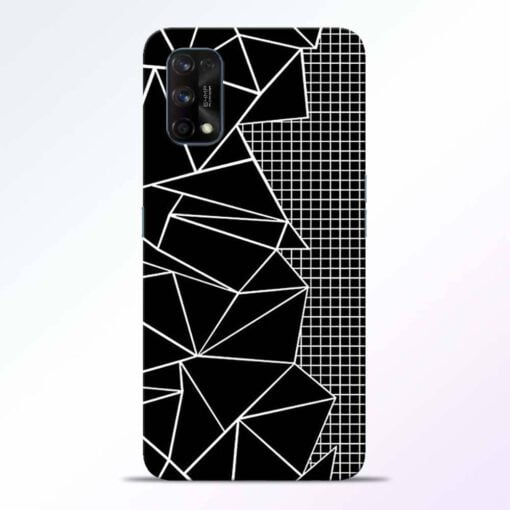 Stencil Pattern Realme 7 Pro Back Cover