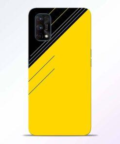 Yellow Black Pattern Realme 7 Pro Back Cover