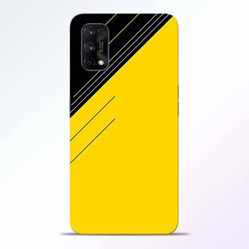 Yellow Black Pattern Realme 7 Pro Back Cover