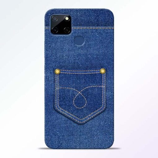 Blue Pocket Realme C12 Mobile Cover