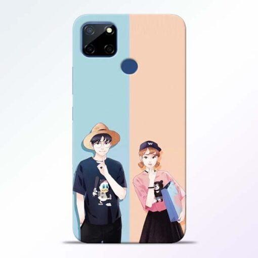 Cute Couple Realme C12 Mobile Cover