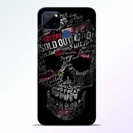 Skull Face Realme C12 Mobile Cover