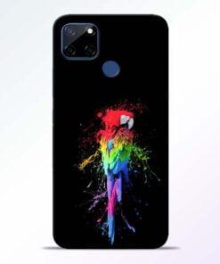 Splatter Parrot Realme C12 Mobile Cover