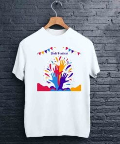 Colorful Hands Holi T shirt - CoversGap