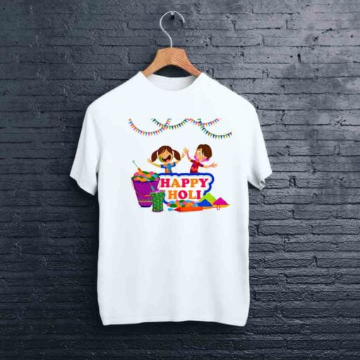 Happy Colourful Holi T shirt - CoversGap