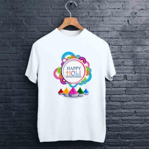 Happy Round Holi T shirt - CoversGap