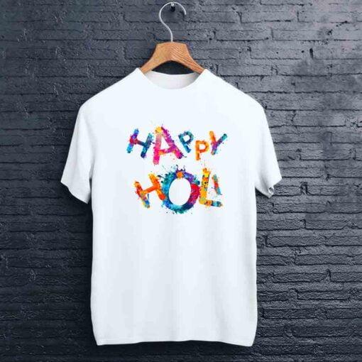 Happy Text Holi T shirt - CoversGap