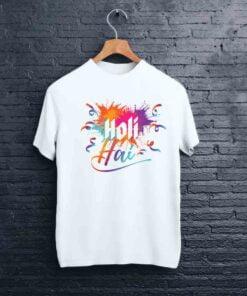 Holi Hai Printed Holi T shirt - CoversGap