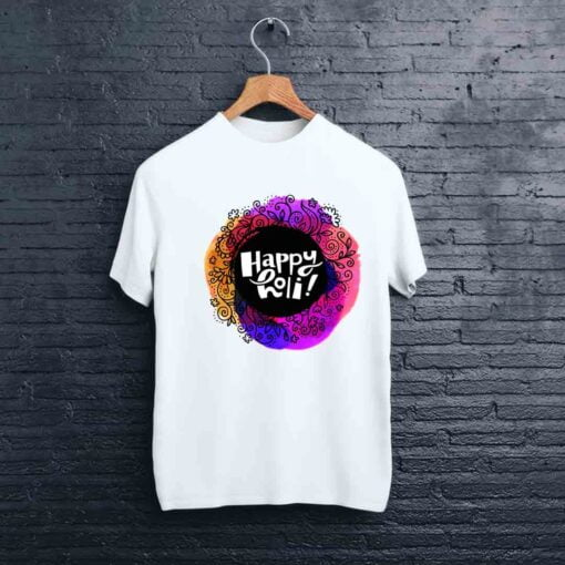 Multi Flower Holi T shirt - CoversGap