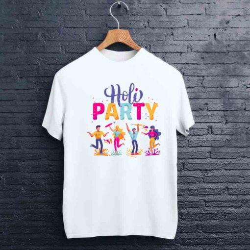 Party Enjoy Holi T shirt - CoversGap