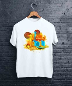 Pot Artwork Holi T shirt - CoversGap