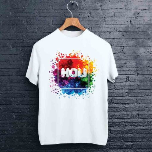 Square Box Holi T shirt - CoversGap