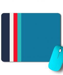 Blue Strips Mouse Pad - CoversGap